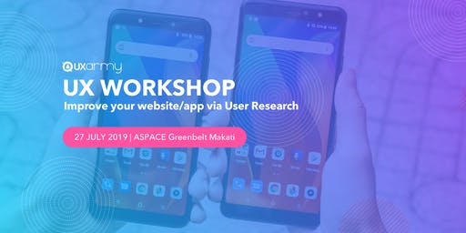UX Workshop: Improve your website/app via User Research