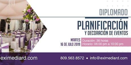 DIPLOMADO PLANIFICACION Y DECORACIÓN DE EVENTOS entradas