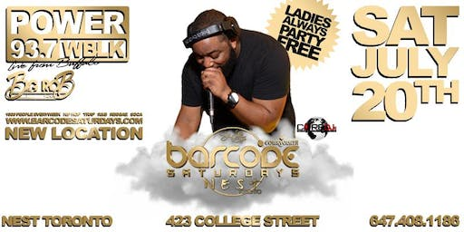 Barcode Saturdays w/ Dj Big Rob from 93.7 WBLK