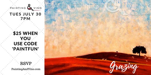 "Paint Night ""Grazing"" - No Experience Necessary - All Supplies Included"