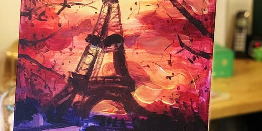 Paint & Sip -Eiffel Tower