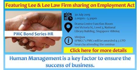 PMC Bond Series-Key factors for business survival : HR & Finance tickets