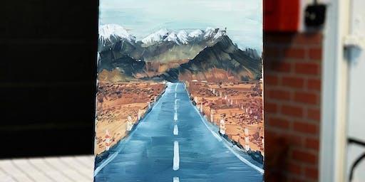 Paint & Sip -Art Class-Road