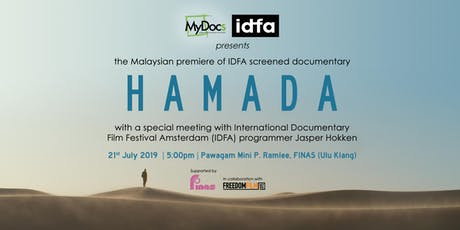 Meet IDFA programmer Jasper Hokken at the Malaysian premiere of 'Hamada' presented by MyDocs tickets