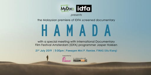 Meet IDFA programmer Jasper Hokken at the Malaysian premiere of 'Hamada' presented by MyDocs