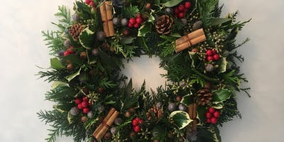 Christmas Wreath Making with Blush