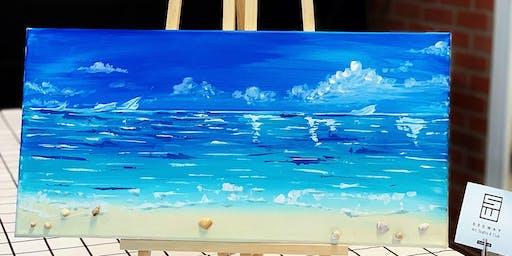 Paint & Sip -Art Class-Beach Scene