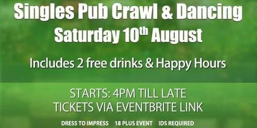 Singles Pub Crawl & Dancing includes 2 Free Drinks (joint Groups)