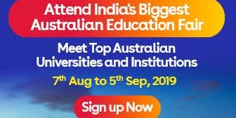 Apply to Australian universities at IDP's Free Australia Education Fair  in Ahmedabad– 7 Aug 2019 to 5 Sept 2019