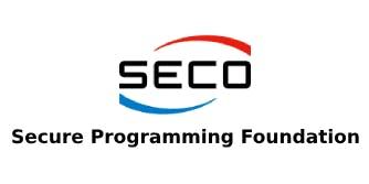 SECO – Secure Programming Foundation 2 Days Training in Sacramento, CA