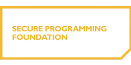 Secure Programming Foundation 2 Days Training in San Francisco, CA tickets