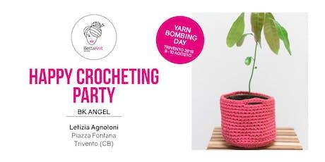 Crocheting Party - Billy Basket - TRIVENTO - YARN BOMBING DAY biglietti