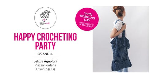 Crocheting Party - La Plage Bag - TRIVENTO - YARN BOMBING DAY
