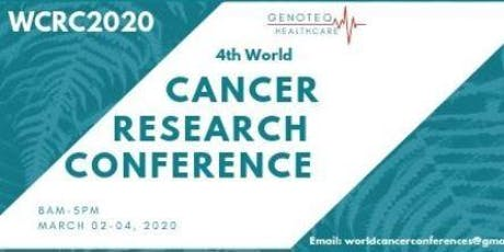 4th WORLD CANCER RESEARCH CONFERENCE tickets
