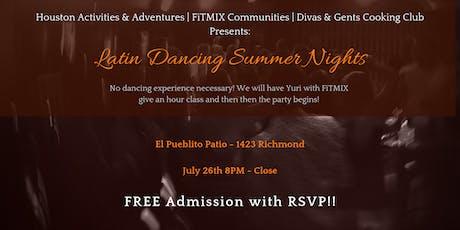 Latin Dancing Summer Nights social tickets