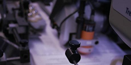 Klebebinder III mit Prüfungsstück Tickets