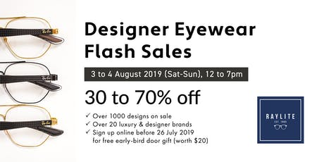 Eyewear Flash Sales @ Raylite Optical tickets