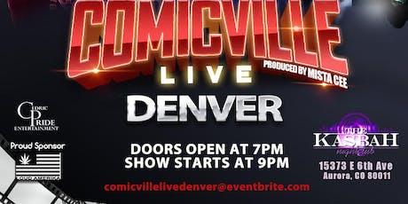 COMICVILLE LIVE DENVER tickets