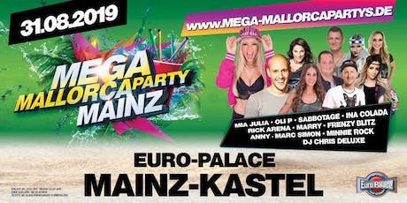 Mega Mallorcaparty Mainz Tickets