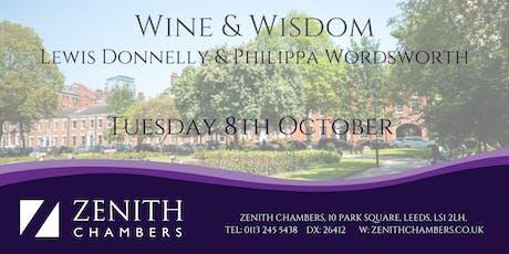Lewis Donnelly & Philippa Wordsworth - Wine & Wisdom tickets