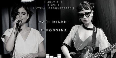 6th WtMM Balcony Show: Alfonsina + Mari Milani bilhetes