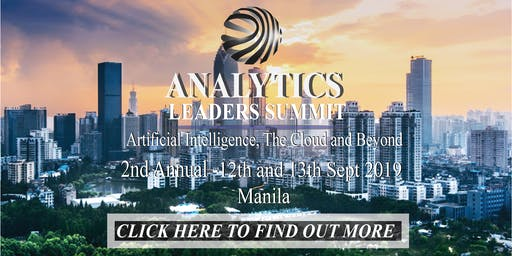 Analytics Leaders Summit – Artificial Intelligence, The Cloud & Beyond