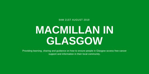 Macmillan in Glasgow: Learning Session