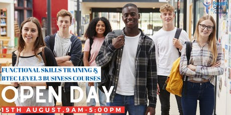 Functional Skills Training & BTEC Level 3 Business Courses (Open Day Event) tickets