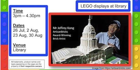Maker's@DMNS Library: Brick Minibuilds (LEGO)-Building our community tickets