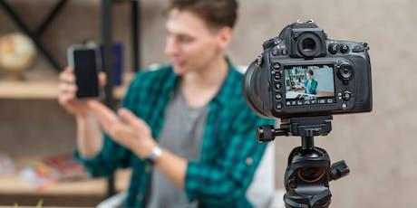 """Curso """"Produção de conteúdo em vídeo para redes sociais"""" - Turma 1 ingressos"""