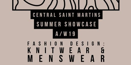 Central Saint Martins Experimental Knitwear & Menswear Pop-Up Fashion Show tickets
