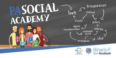 PA Social Academy - 4° appuntamento - Stories, grafica e immagini