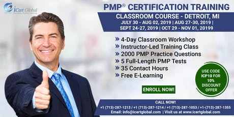 PMP (Project Management) Certification Training In Detroit, MI, USA   4-Day (PMP) Boot Camp tickets