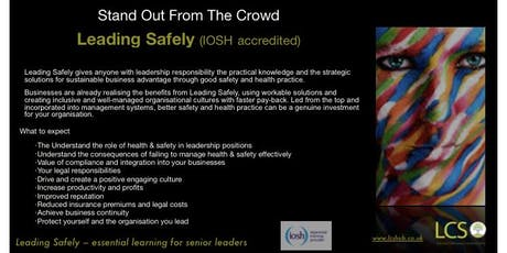 IOSH Leading Safely - Essential for Business Leaders  tickets