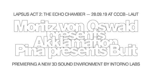 Lapsus 2019 - ACT 2 (CCCB): Moritz von Oswald (live) + Pina (live)