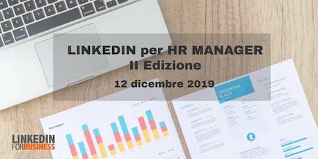 LinkedIn per HR Manager II Edizione biglietti