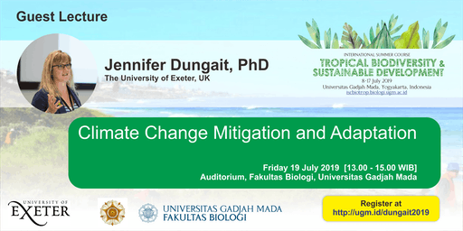 [Guest Lecture] Climate Change Mitigation and Adaptation