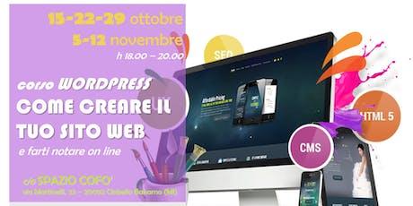 Corso WORDPRESS  tickets