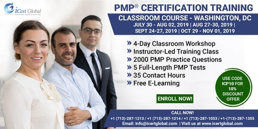 PMP (Project Management) Certification Training in Washington, DC, USA | 4-Day (PMP) Boot Camp