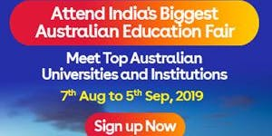 Apply to Australian universities at IDP's Free Australia Education Fair in Chandigarh – 7 Aug 2019 to 5 Sept 2019