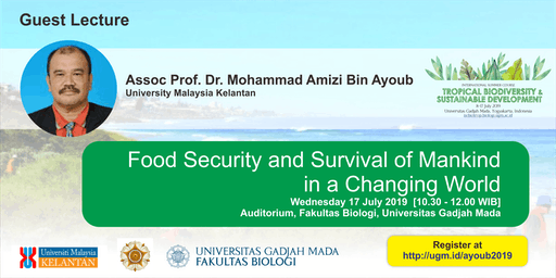 [Guest Lecture] Food Security and Survival of Mankind in a Changing World