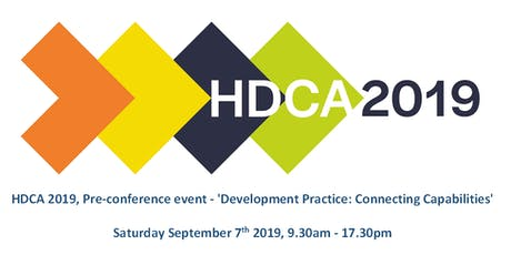 HDCA 2019 Pre-conference event: 'Development Practice: Connecting Capabilities' tickets