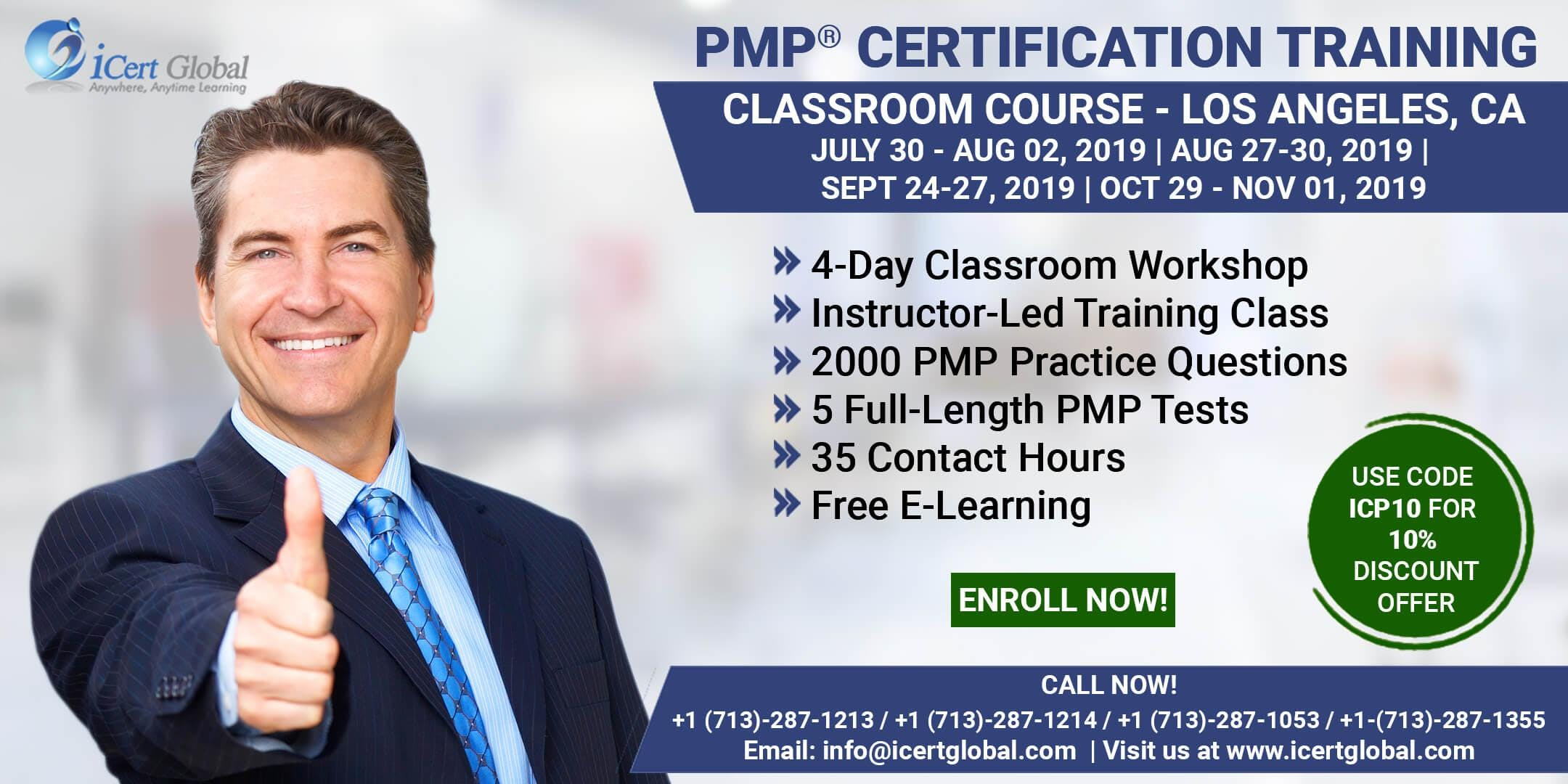 PMP (Project Management) Certification Training In Los Angeles, CA, USA | 4-Day (PMP) Boot Camp