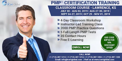PMP (Project Management) Certification Training in Lawrence, KS, USA | 4-Day (PMP) Boot Camp