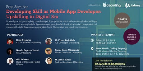 Free Seminar @ Gading Serpong: Developing Skill as Mobile App Developer tickets