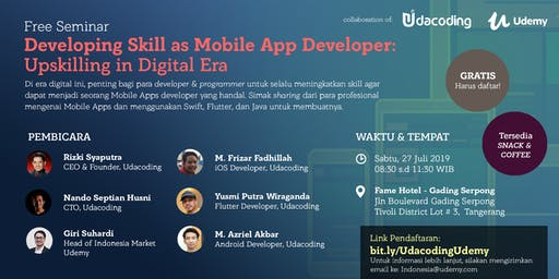 Free Seminar @ Gading Serpong: Developing Skill as Mobile App Developer