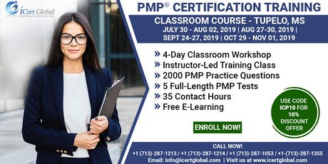 PMP (Project Management) Certification Training in Tupelo, MS, USA | 4-Day (PMP) Boot Camp tickets