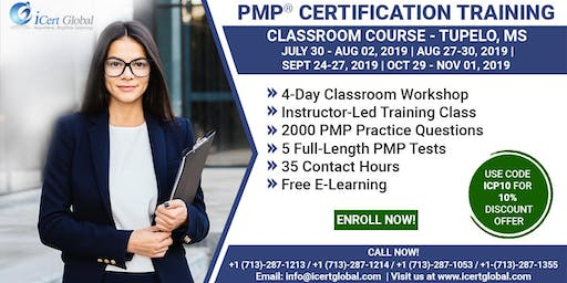 PMP (Project Management) Certification Training in Tupelo, MS, USA | 4-Day (PMP) Boot Camp