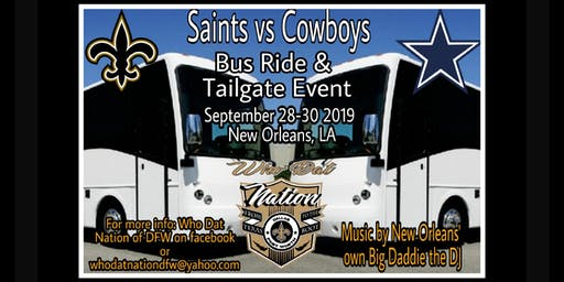 Saints vs Cowboys Bus Ride & Tailgate