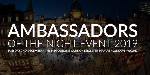 NTIA Ambassadors of the Night  Monday 2nd December 2019  The Hippodrome Casino